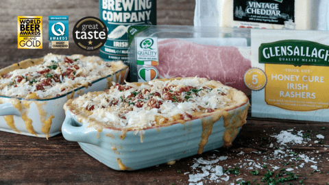 Bacon Crusted Beer Mac and Cheese Pots