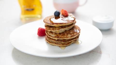 Banana & Gluten Free Oat Pancakes