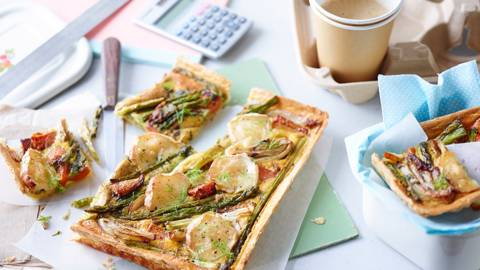 Quiche with spring vegetables