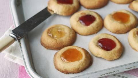 Thumbprint Cookies with Marmalade and Jam