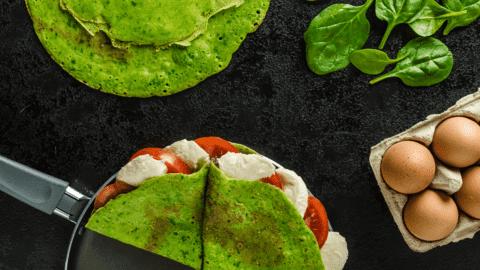 Green Spinach & Basil Crêpes