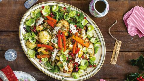 Warm Winter Salad with Leftovers