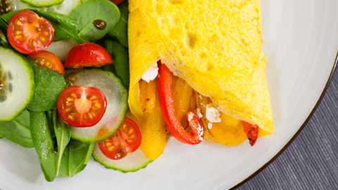 Mediterranean Omelette with Mixed Salad