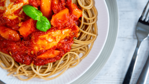 Zesty Chicken Thighs with Pasta