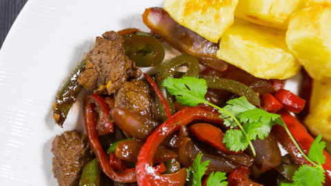 South American Beef with Roasted Potato Cubes