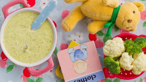 Broccoli & Cauliflower Cheese Purée