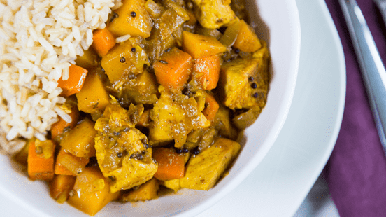 Chicken & Ginger Curry with Fragrant Rice