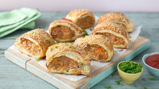 Hidden Vegetable Sausage Rolls