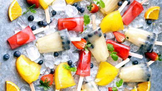 Summer Fruit Ice Pops