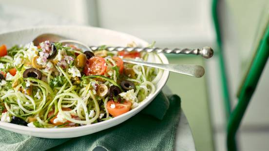 Greek Salad with Courgette Noodles