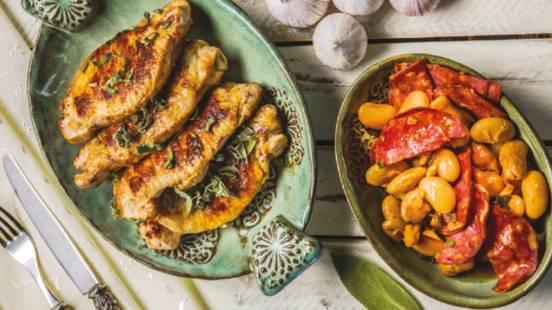 Pork, Chorizo and Butterbean Casserole