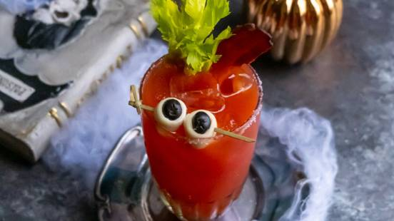 Halloween Themed Bloody Mary Cocktail