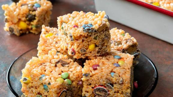 Halloween Rice Snap Squares