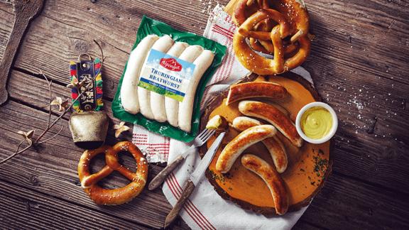 Alpenfest German Pork Sausages with Creamy Potato Salad