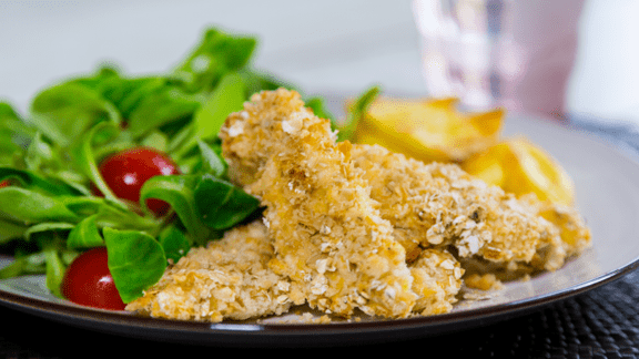 Chicken Goujons with Potato Wedges
