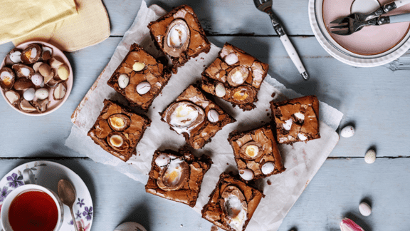 Créme Egg Brownies