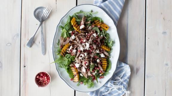 Confit Duck Leg Salad with Butternut Squash