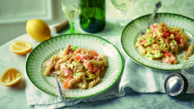 Pasta with Smoked Salmon in Mustard Sauce
