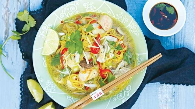 Chinese Seafood noodle soup
