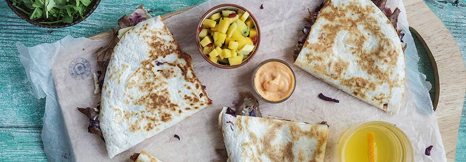 Crispy Duck Quesadillas