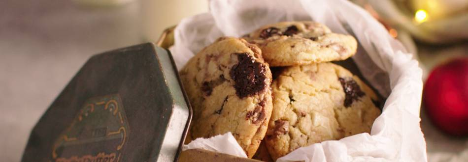 Chocolate Chip Cookies in tin