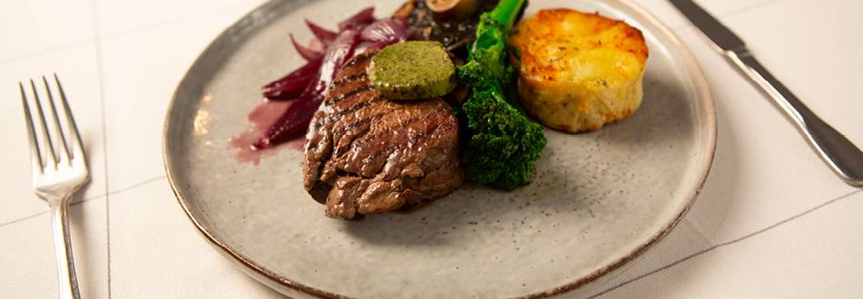 Fillet Steak with Garlic and Herb Butter