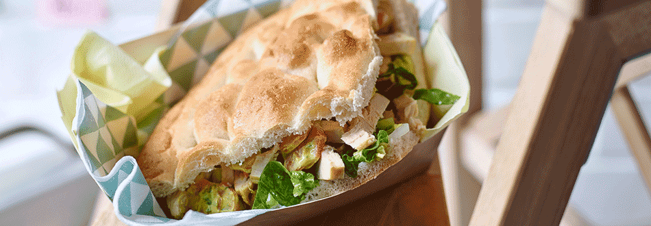 Chicken and curry carrot sandwich