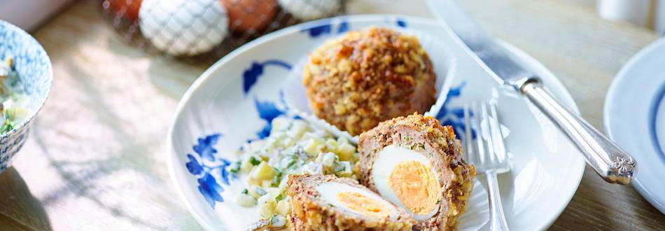 Eggs in breadcrumbs