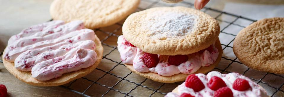Dessert Biscuits with a Sweet Raspberry Cream Filling