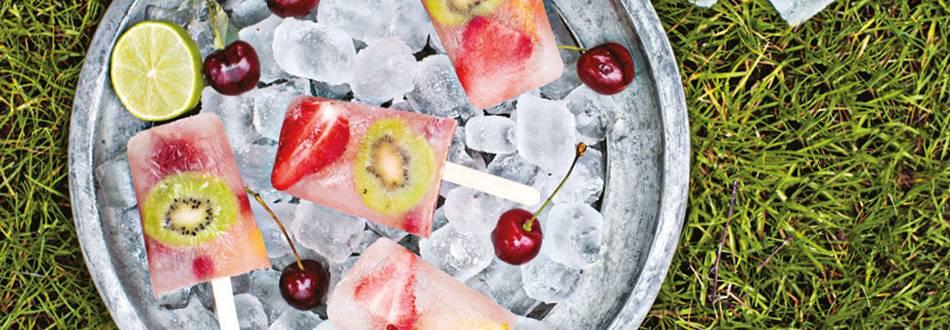 Fruity ice pops
