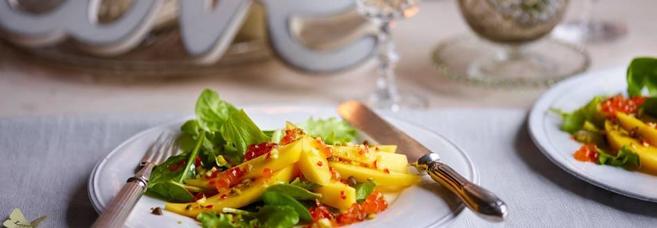 Mango and Chilli Salad with Caviar