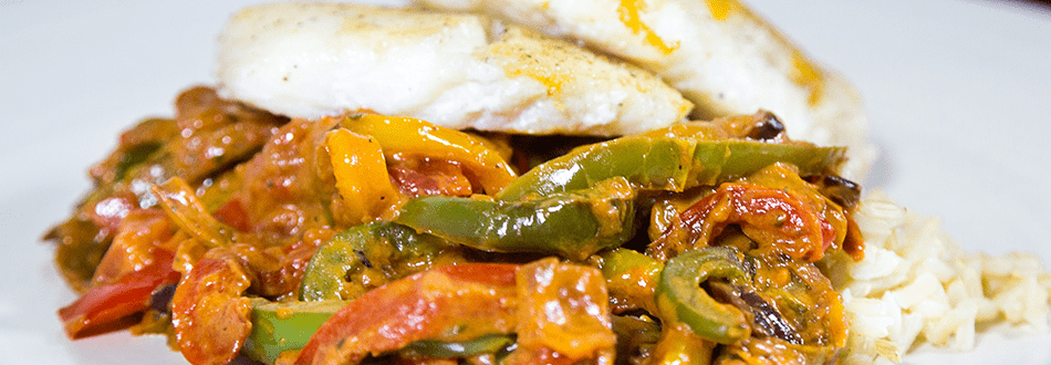 Spanish Haddock with Rice